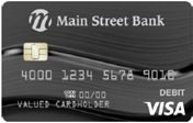 068 Charcoal Swirl debit card
