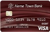 072 Burgundy Swash debit card