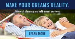 Couple in hammock relaxing with headline Make your dreams a reality learn more